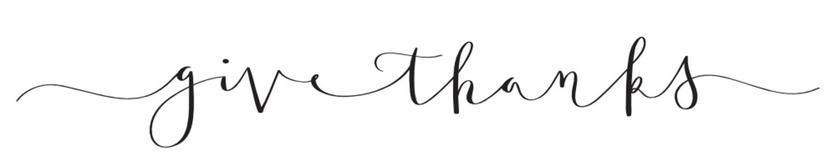 GIVE THANKS brush calligraphy banner