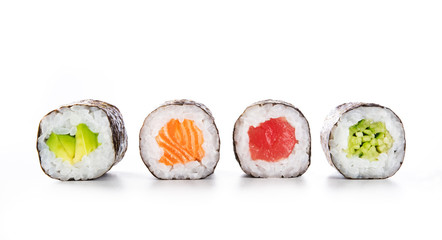 Photo sur cadre textile Sushi bar Maki sushi food