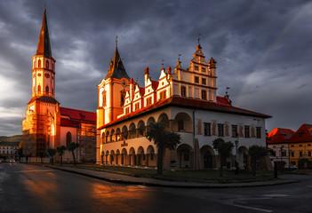 Roman Catholic St. Jaimes church and Town Hall in Levoca - Slovakia