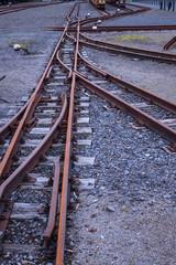 Gleisanlage in einer Zeche