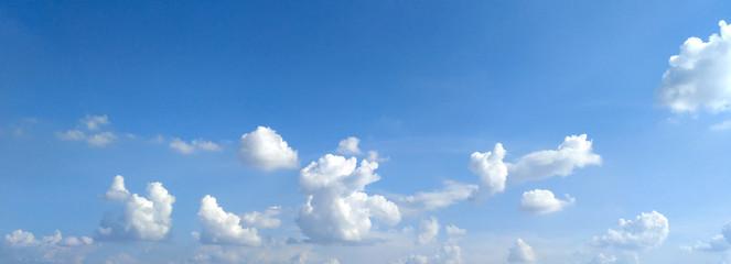 Fototapeta The blue sky and beautiful clouds background.