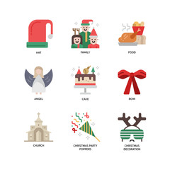 Christmas icon set 4