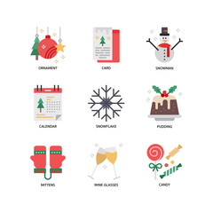 Christmas icon set 3