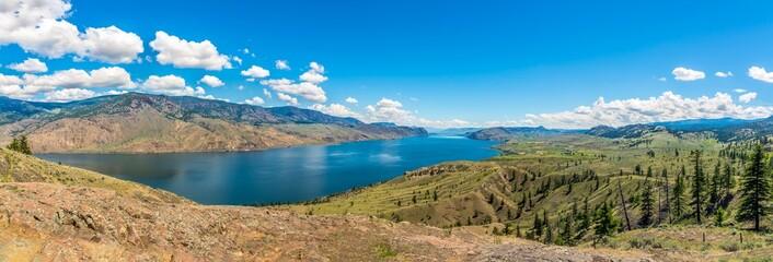 Panoramic view at the Kamloops lake in British Columbia - Canada