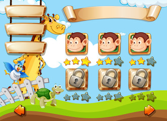 Wild animals game template