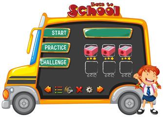 School bus game template