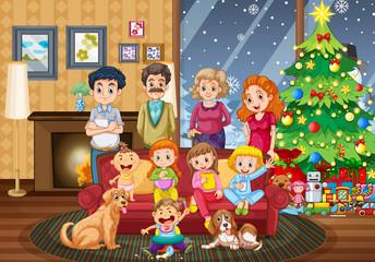 Big family gathering on Christmas day
