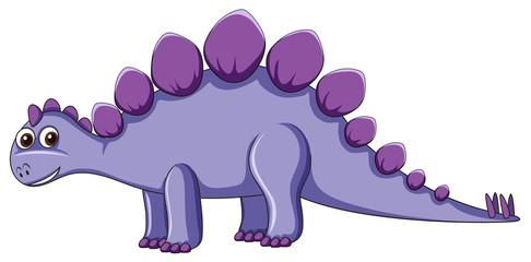 Cute purple dinosaur character