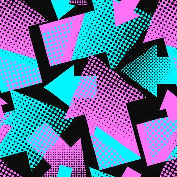 Arrows seamless geometric trendy pattern.