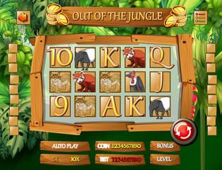 Jungle animal game template