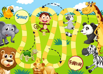 Wild animals game template