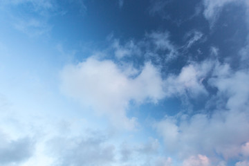 clouds white fluffy with blue sky