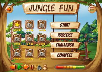 Monkey jungle game template