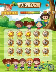 Kids fun game template