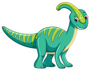 Cute green dinosaur character