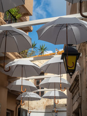 Details of the streets of Rethymno, Crete island, Greece