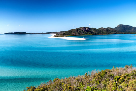 Whitehaven Beach aerial view, Whitsunday Islands