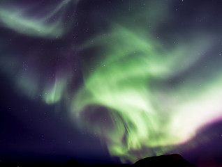Northern Light dancing across the Icelandic Sky in September