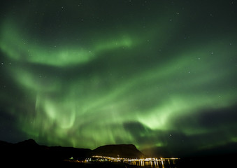 Northern Light dancing across the Icelandic Sky in September