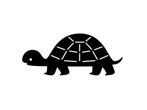 Black turtle silhouette. Vector