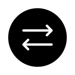Substitution Change Switch Sync vector icon