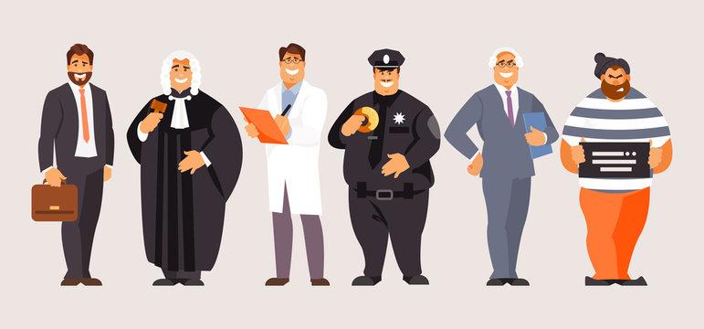 Legal professions vector