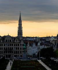 Puesta de sol en Bruselas