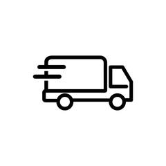 Delivery truck icon symbol