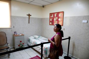 Cecilia Flores de Rivas visits the house of the late Archbishop of San Salvador, Mons. Oscar Arnulfo Romero in San Salvador