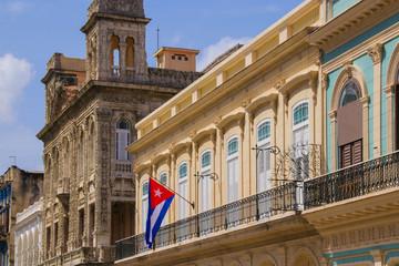 Havana, Paseo de Marti, Flag