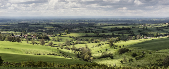 A view over the Vale of York from the Yorkshire Wolds