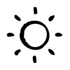 Sun Summer Beach Brightness Bright vector icon