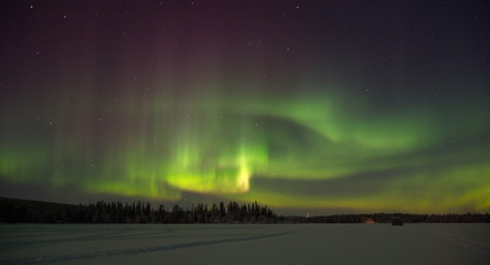 Northern lights in northern Norway and Finland