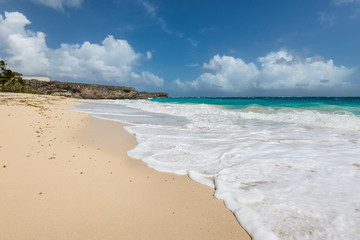 Tropical wild beach on the caribbean island - Bottom Bay, Barbados