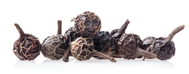 Black Peppercorn (Cubeb) Isolated on white background