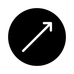 UP Right Thin Arrow Direction Move Diagonal vector icon