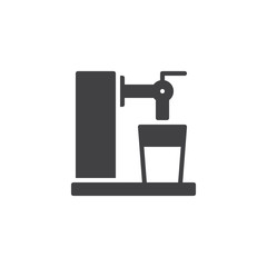 Beer Tap vector icon. filled flat sign for mobile concept and web design. Beer glass and tap simple solid icon. Symbol, logo illustration. Pixel perfect vector graphics