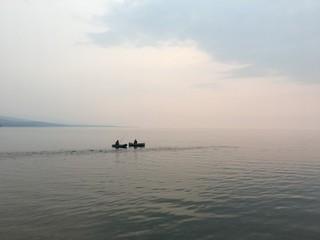 fishermen on lake baikal