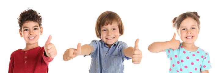 Surprised little boy on white background