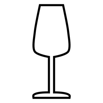 Wine Glass Line vector icon