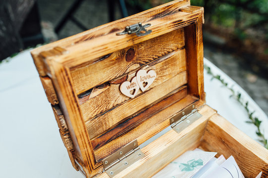 Advice for the bride and groom wood book box, wooden guest book.