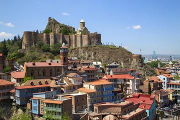 .Древняя крепость на горе в Тбилиси.Грузия.Вертикально.горизонтально.