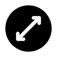 Upscale Fullscreen Thin Arrow Direction Move Arrows vector icon