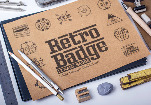 12 Retro Logo/Badges