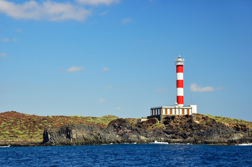 The lighthouse on a south shore of the Tenerife island.