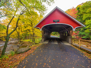 Covered bridge in Lincoln, New Hampshire