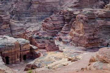 Rochers Pétra en Jordanie Patrimoine Mondial