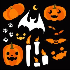 Happy Halloween design elements. Halloween