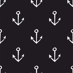 Seamless pattern with anchors. Seamless
