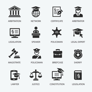 Law & Justice icon set